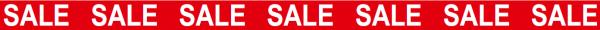 "Ankleberstreifen ""SALE SALE"" , 250x12 cm"