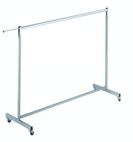 Vierkant-Rollständer L 150 cm silbergrau