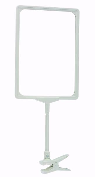 Klammer mit Verbindungsstange, weiss