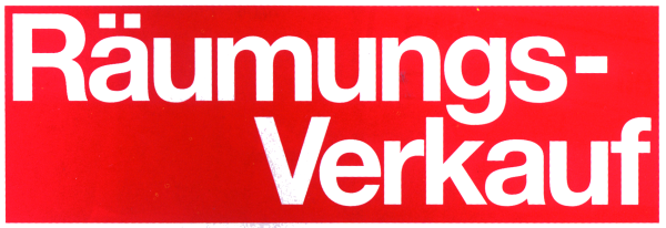 """Ankleber """"Räumungsverkauf"""" rot"""
