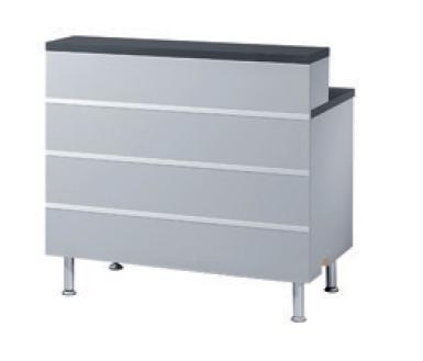 QBUS Schreibplatz-Counter, T 60 cm H 93 cm