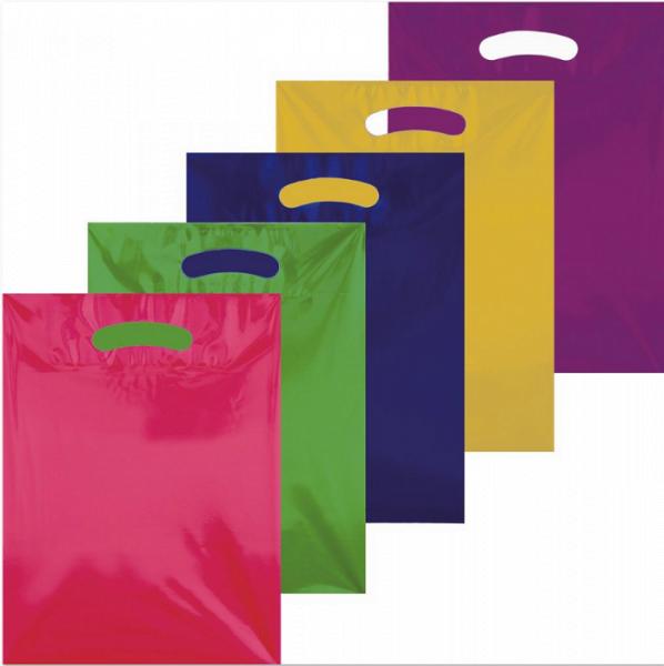 Tragetasche farbig transparent 380 x 450 mm