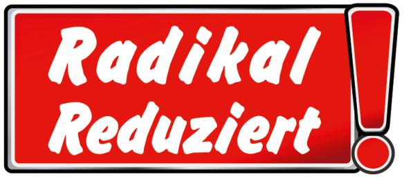 """Ankleber """"Radikal Reduziert! """" , verschiedene Formate"""