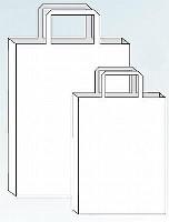 Papiertragetasche weiß 50 Stück 22x36+11 cm