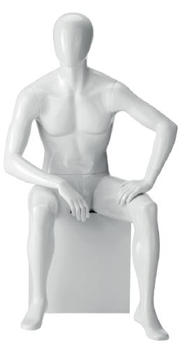 Herr 6 Hochglanz mit abstraktem Kopf ,sitzend