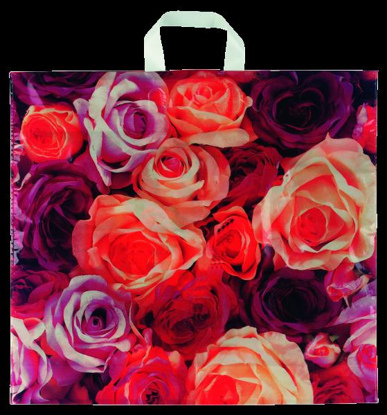 Schlaufentasche Rosen,100 Stck.