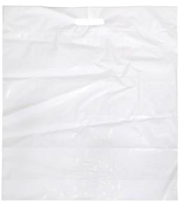 Tragetasche, weiß Polyäthylen 440 x 480 mm