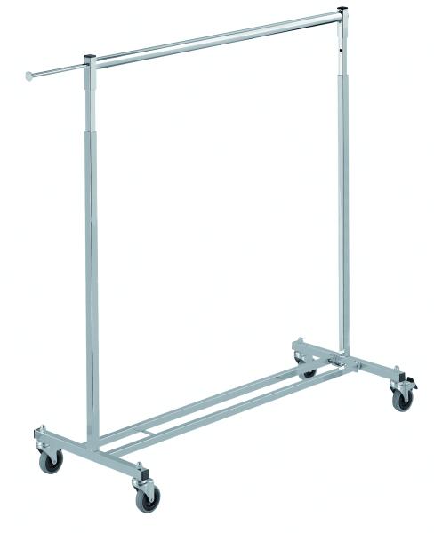 Vierkant-Reiserollständer L 110 cm, silber