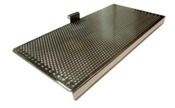 Fresh-Schuhkonsole für Wandbuchse 45x45 mm, matt chrom