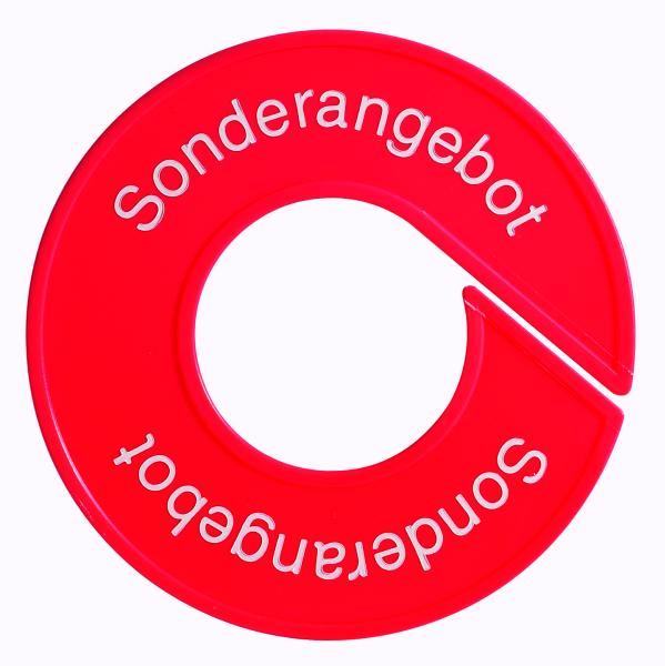 Ringscheibe -Sonderangebot- mit Rand, rot
