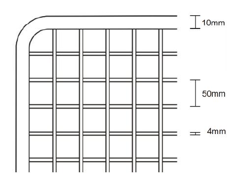 Gitter mit Rahmen weiss oder chrom