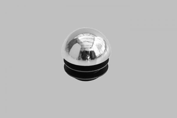 Endkappe Halbkugel chrom für Ø25mm