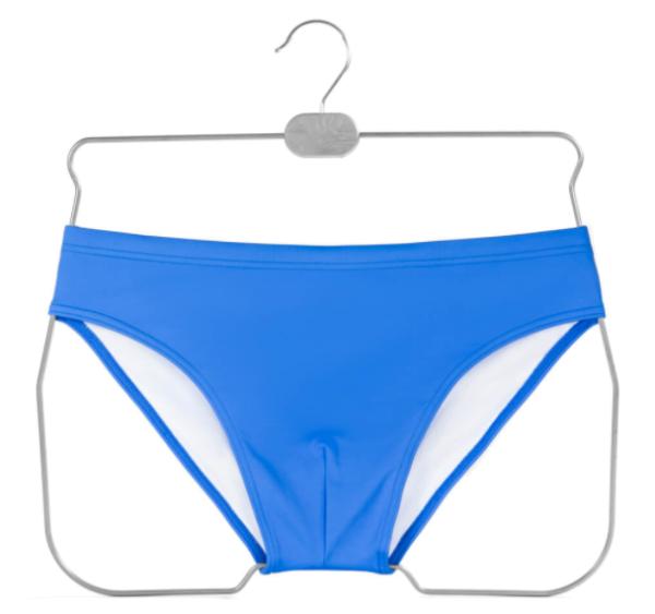 Drahtformbügel aus Draht für Shorts, Badehosen, Slips alufarben