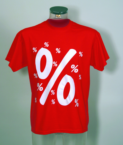 T-Shirt -%%%- Stoff rot