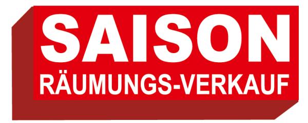 """Ankleber """" SAISON RÄUMUNGSVERKAUF"""", verschiedene Formate"""