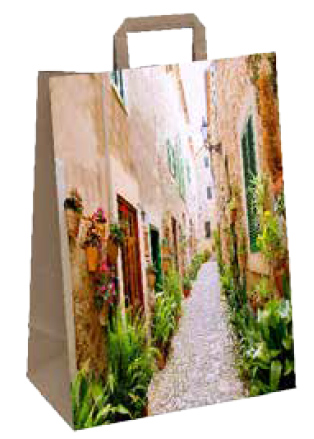 "Papiertragetasche ""Florenz"" 26+12x35 cm"