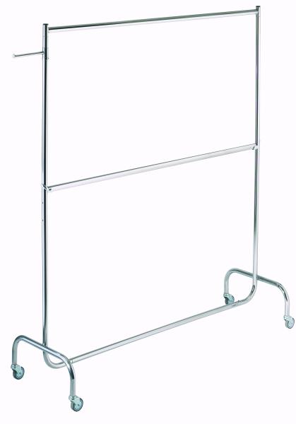Doppelrollständer L 180 cm, chrom