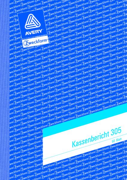 Zweckform -Formular Kassenbericht 305 50 Blatt
