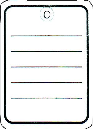 Stückwarenanhänger mit Öse, 40x50mm, 1000 St
