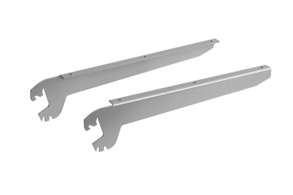 Konsolenpaar für Glas-/Holzfachböden