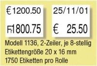 """Etikettenrolle für """"Easyloader"""" Paxar/Monarch 1136"""