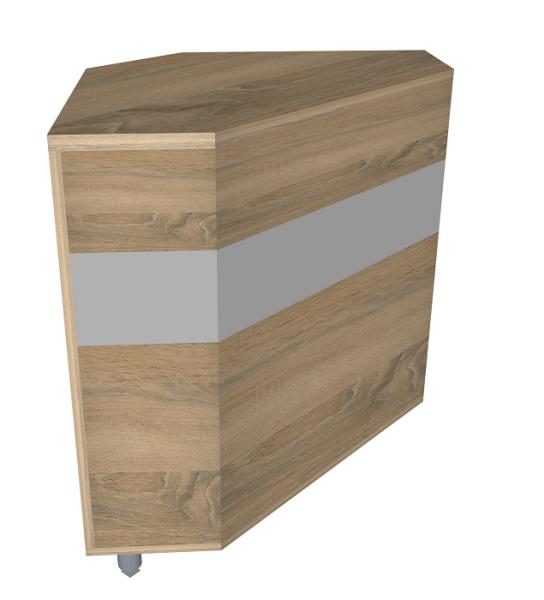 Modula-Theke 5, Eckmodul 90° H 90 cm