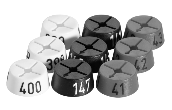 Zahlenreiter -Rund- Beutel je 10 Stck.