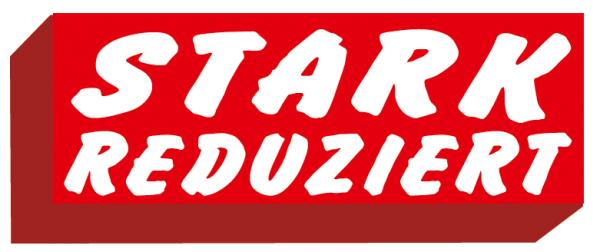 """Ankleber """" STARK REDUZIERT"""" , verschiedene Formate"""