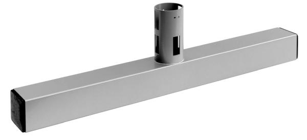 T-Fuß aus Rohr 60x60mm, L 600 mm