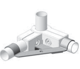 Plattenträger Ø25mm für Boxverbinder