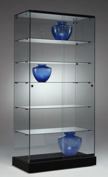 Standvitrine m. Glasdach B 90 cm