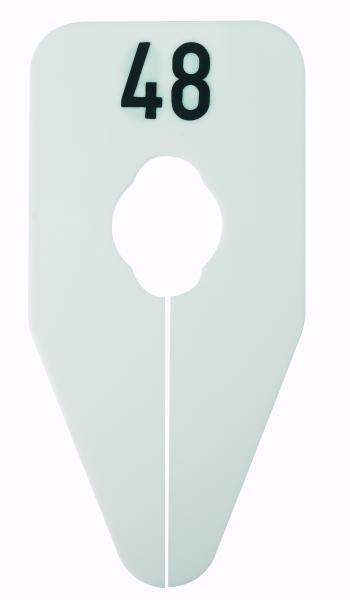 Größenscheibe für Oval und Rundrohre weiss