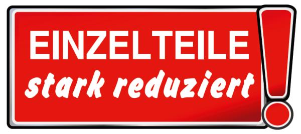 """Ankleber """"EINZELTEILE stark reduziert !"""" , 68,5x30 cm"""