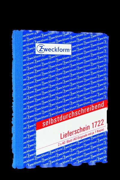 Zweckform-Formular Lieferschein 1722 2x40Blatt