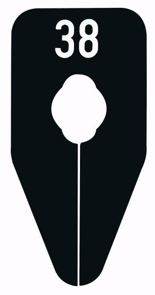 Größenscheibe für Oval und Rundrohre schwarz