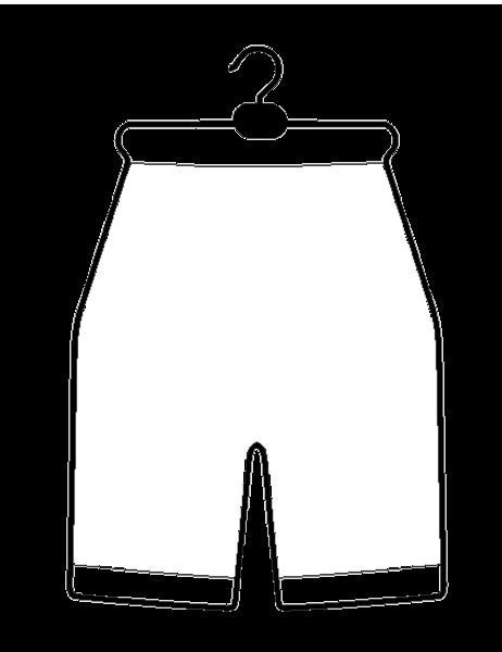 Drahtformbügel aus Draht für Radlerhosen alufarben