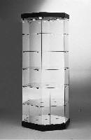 Glasvitrine mit Spiegelrückwand u. Beleuchtungsdach