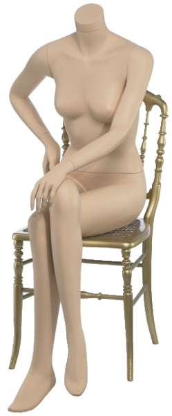 Damenfigur, sitzend, weiß oder hautfarben