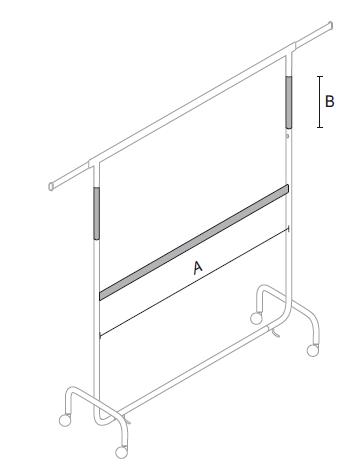 Doppelrollständer Länge 144 cm