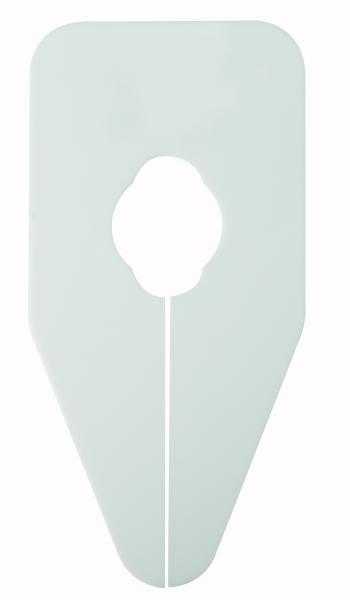 Größenscheibe neutral für Oval und Rundrohre weiss