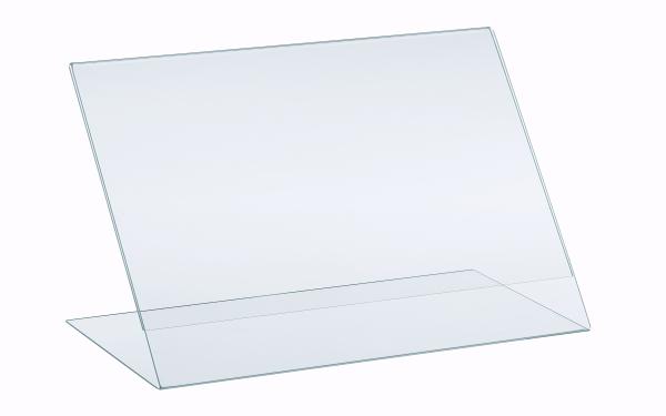L-Aufsteller aus Acrylglas Querformat