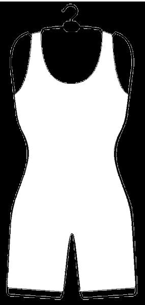 Drahtformbügel aus Draht für Bodys und Catsuits, alufarben