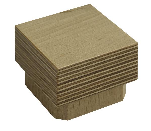 Dekor-Rohrabschluss Quader 60x60 mm