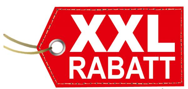 "Ankleber ""XXL RABATT "" , 90x40 cm"
