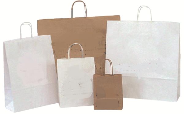 Papiertragetasche braun oder weiss verschiedene Formate