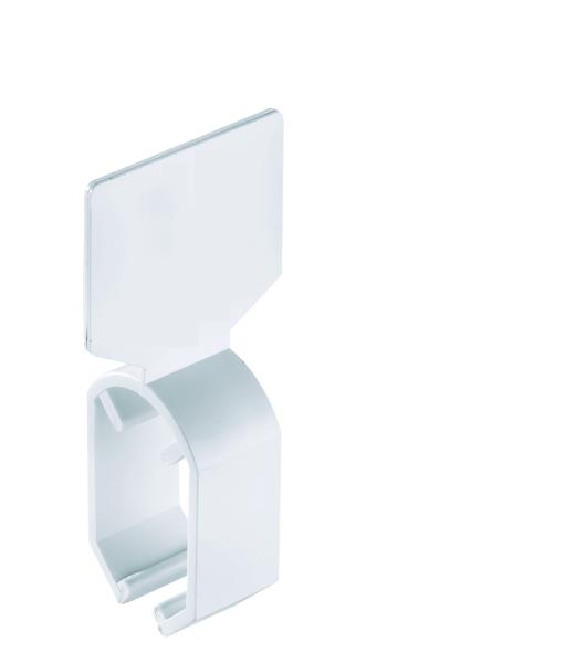 Schildring, neutral weiss, für Ovalrohr 35*20 mm