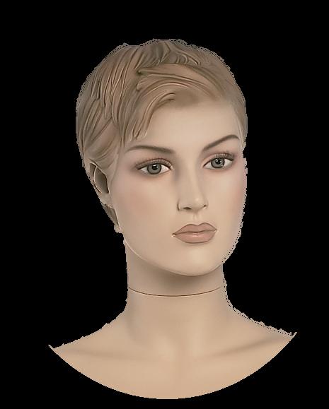 Damenkopf 3 weiß oder hautfarben
