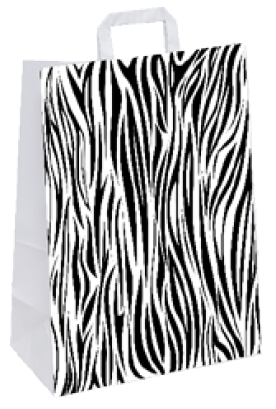 """Papiertragetasche """"Zebra"""" 22+10x28 cm"""