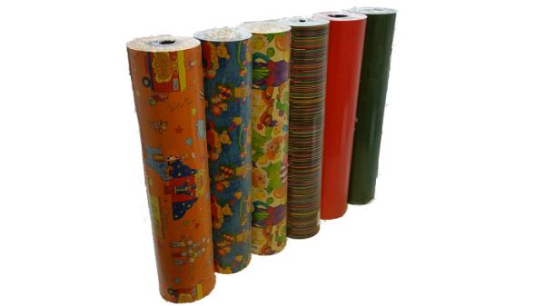 100m Geschenkpapierrolle L 50cm, verschiedene Motive