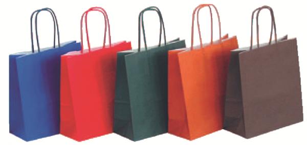 Papiertragetasche farbig verschiedene Formate